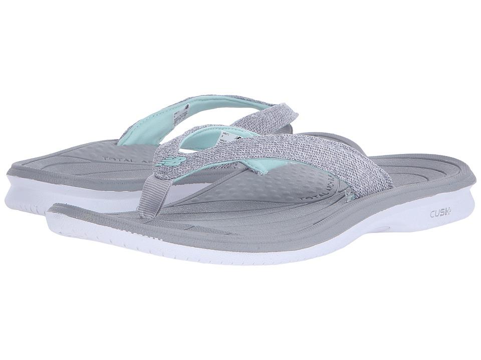 New Balance - Cush+ Heathered Thong (White/Grey) Women