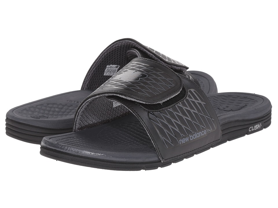 New Balance - Cush+ Slide (Black/Grey) Mens Sandals