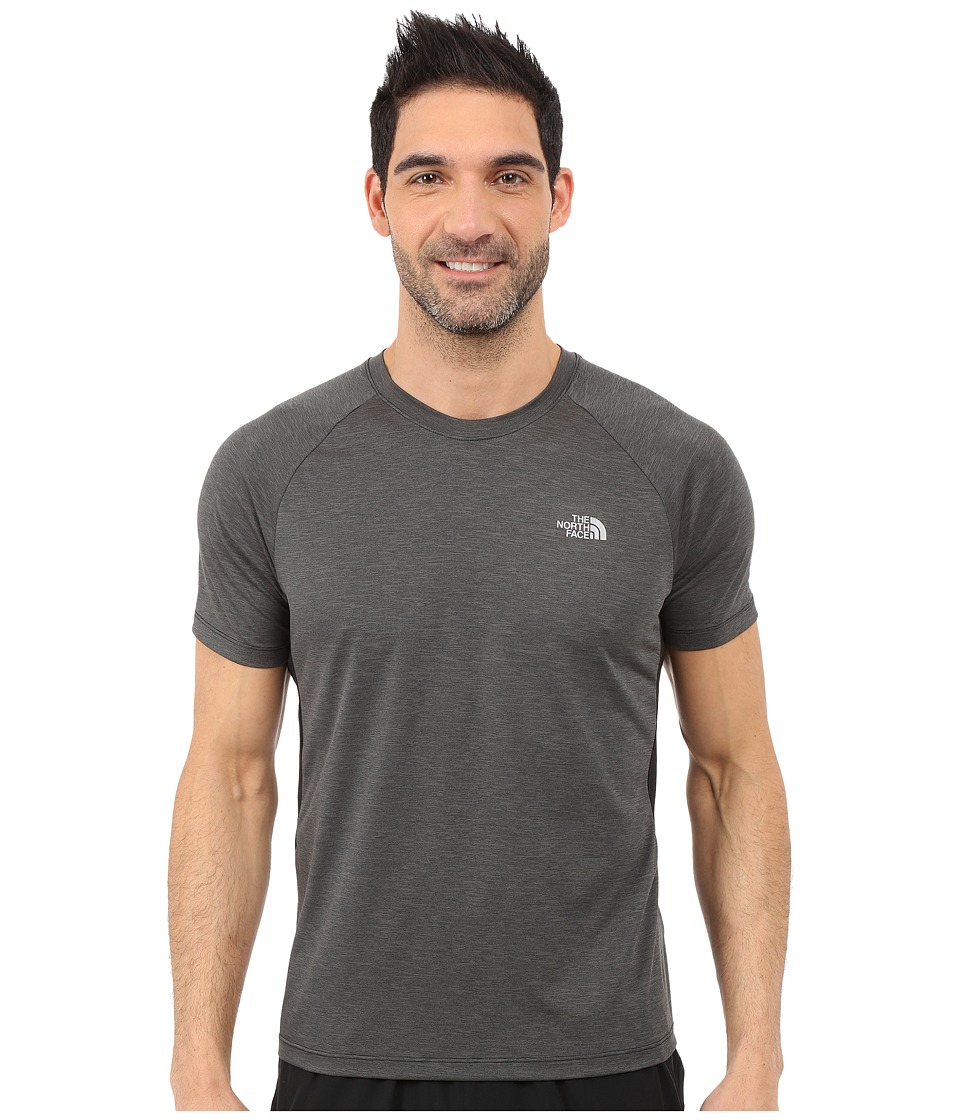 The North Face Ambition Short Sleeve Shirt TNF Black Heather Mens Short Sleeve Pullover