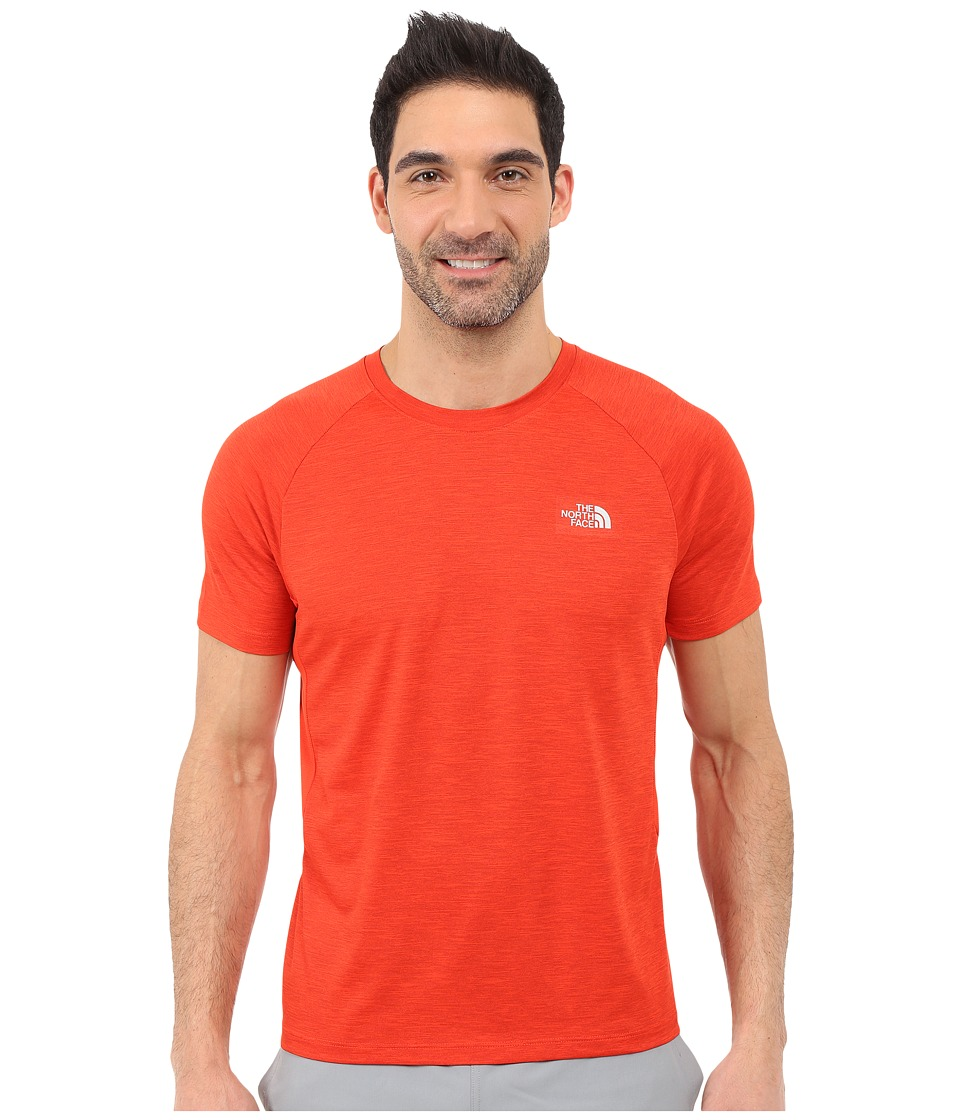 The North Face Ambition Short Sleeve Shirt Pompeian Red Heather Mens Short Sleeve Pullover