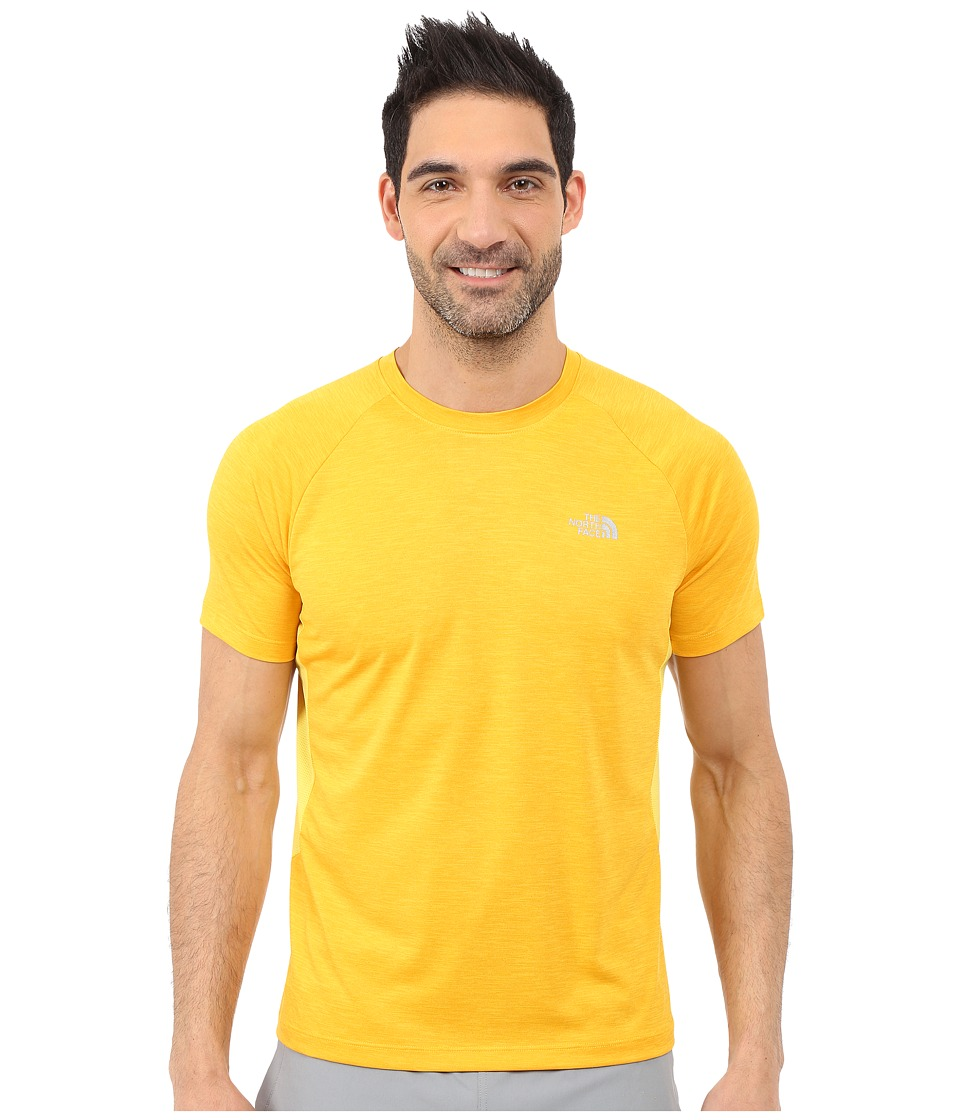 The North Face Ambition Short Sleeve Shirt Citrus Yellow Heather Mens Short Sleeve Pullover