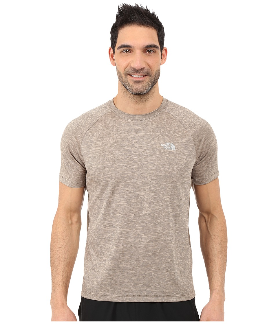 The North Face Ambition Short Sleeve Shirt Weimaraner Brown Heather Mens Short Sleeve Pullover
