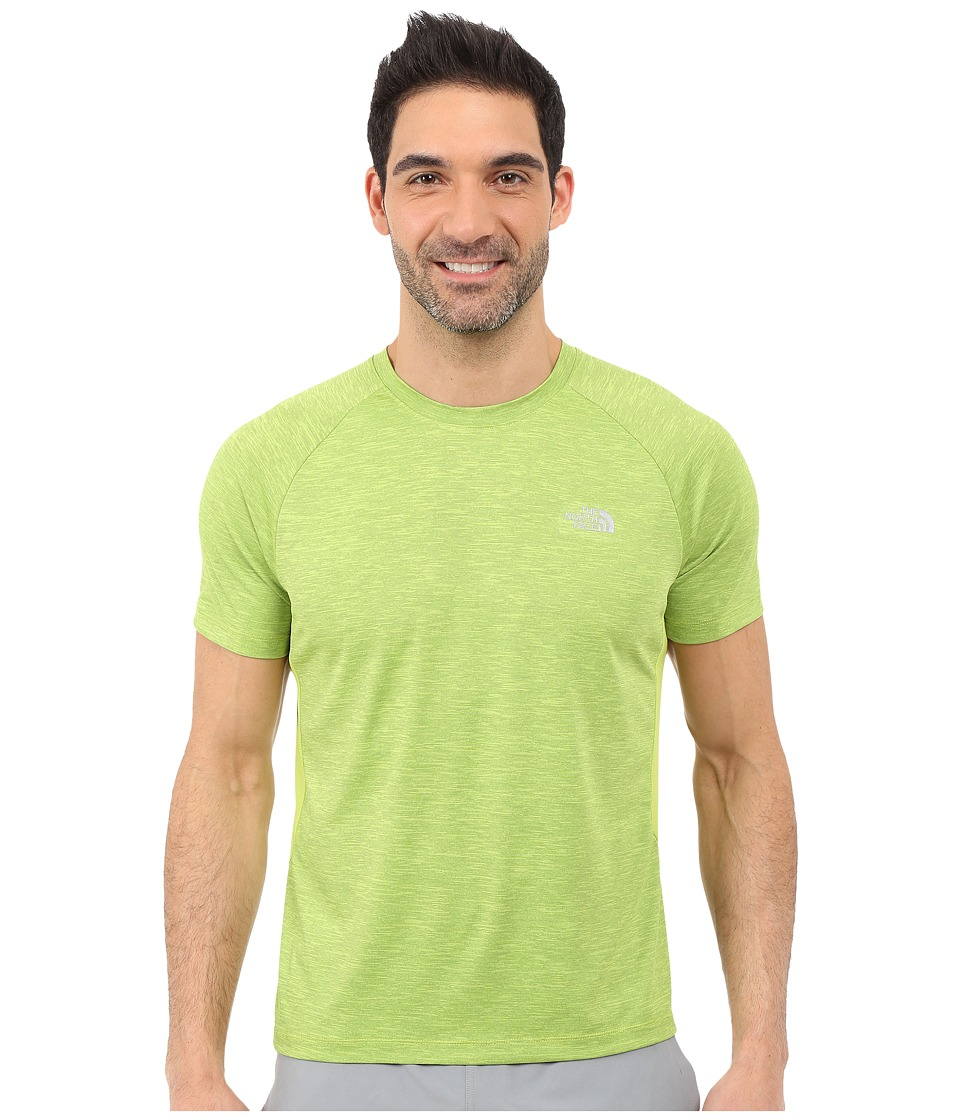 The North Face Ambition Short Sleeve Shirt Macaw Green Heather Mens Short Sleeve Pullover