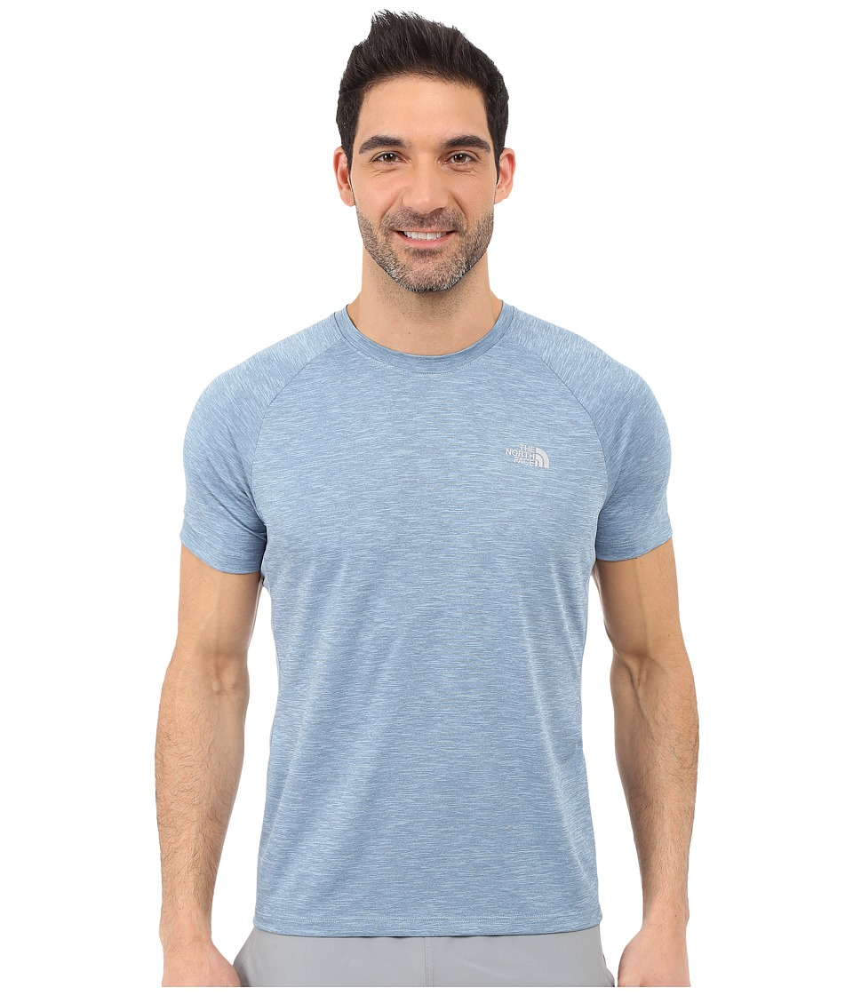 The North Face Ambition Short Sleeve Shirt Faded Denim Heather Mens Short Sleeve Pullover
