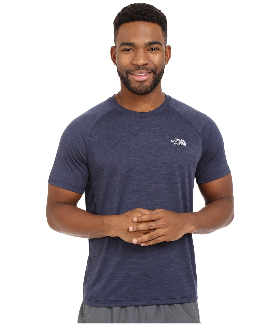 The North Face Ambition Short Sleeve Shirt Cosmic Blue Heather Mens Short Sleeve Pullover