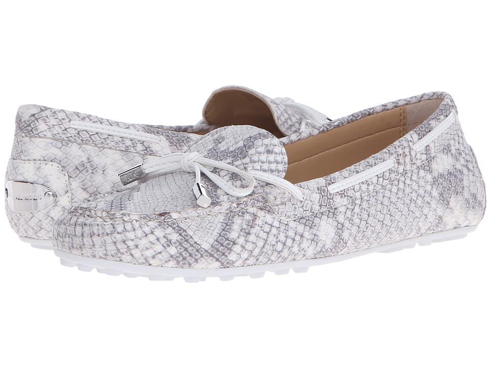 MICHAEL Michael Kors Daisy Moc Natural Buffed Embossed Python Womens Slip on Shoes