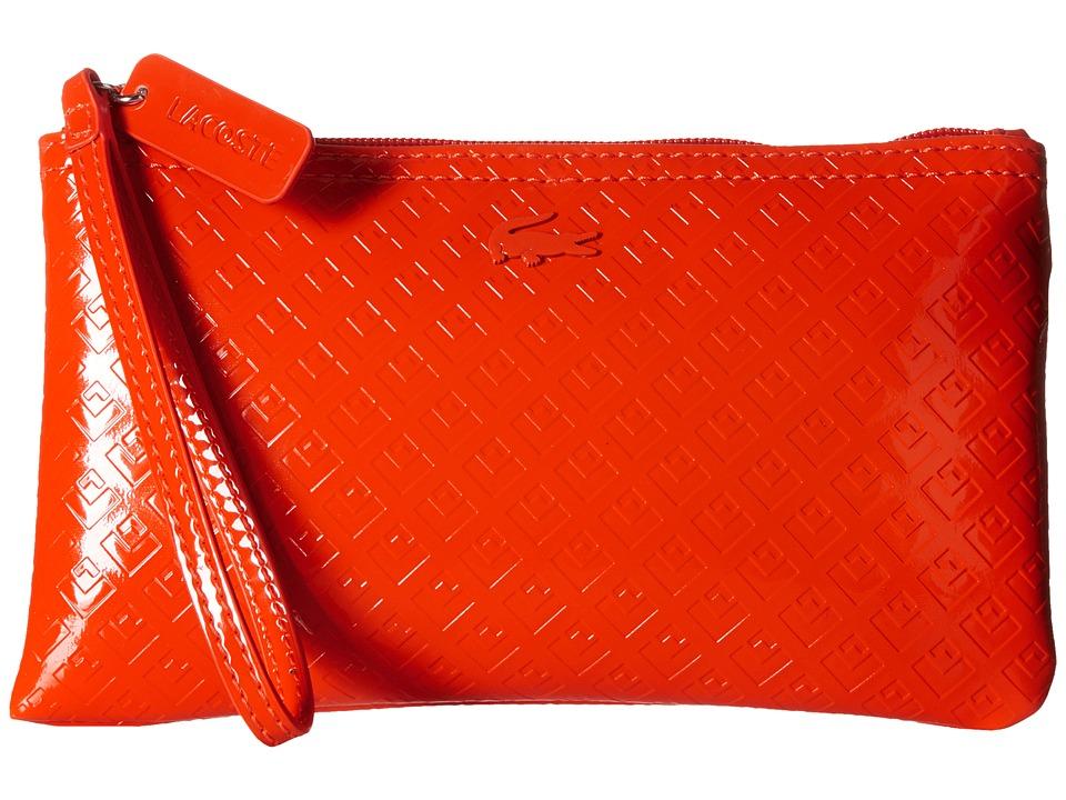 Lacoste - L.12.12 Glossy Clutch Bag (Spicy Orange) Clutch Handbags