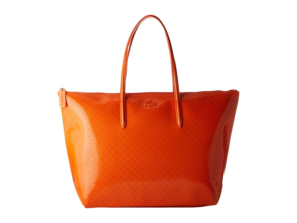 Lacoste - L.12.12 Glossy Large Shopping Bag (Spicy Orange) Handbags
