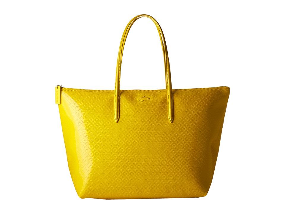 Lacoste - L.12.12 Glossy Large Shopping Bag (Lemon) Handbags