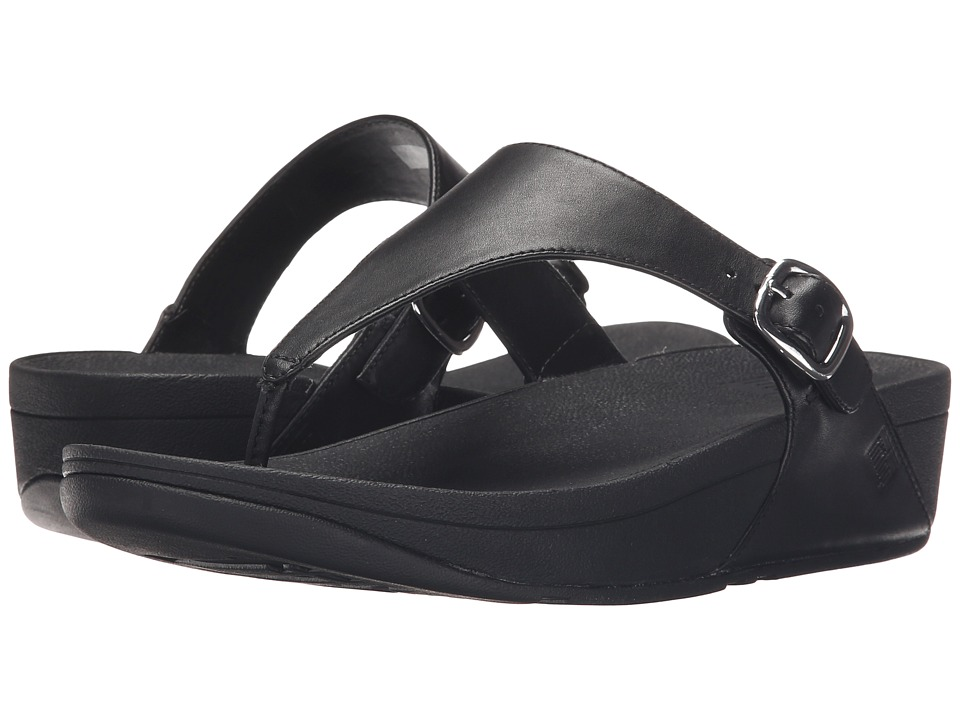 FitFlop The Skinny Leather (All Black) Women