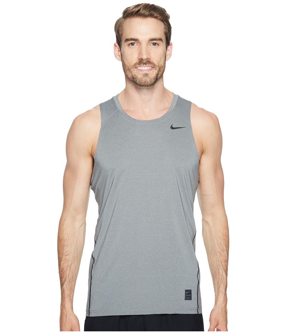Nike Pro Tank (Carbon Heather/Black/Black) Men