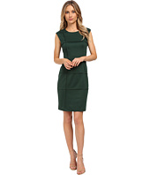 London Times - Sleeveless Piped Ponte Sheath
