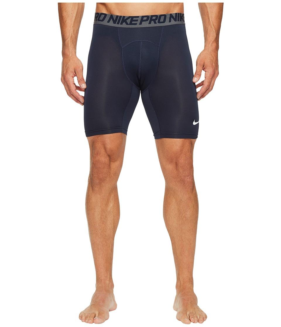 "Nike Pro Cool Compression 6"" Short (Obsidian/Dark Grey/White) Men"