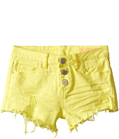 Blank NYC Kids - High Rise Shorts in Lemon Drop (Big Kids)
