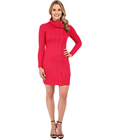 Calvin Klein - Long Sleeve Zip Front Sweater Dress
