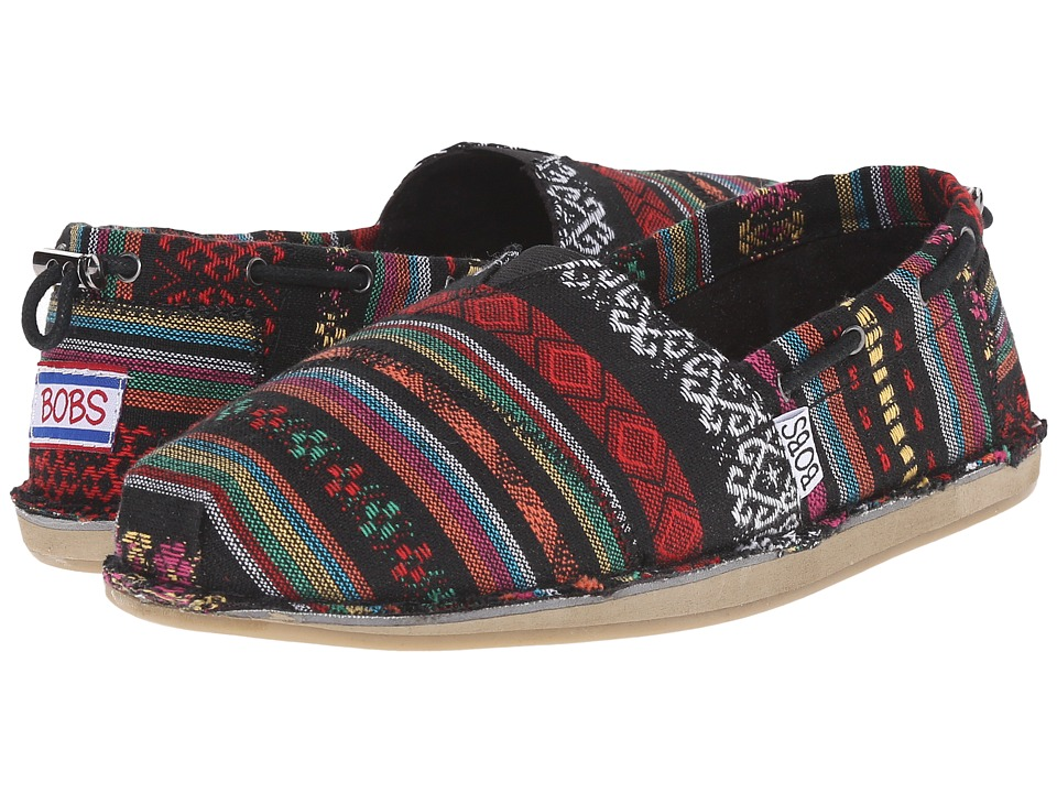 BOBS from SKECHERS Bobs Chill Warrior Princess Black/Multi Womens Slip on Shoes
