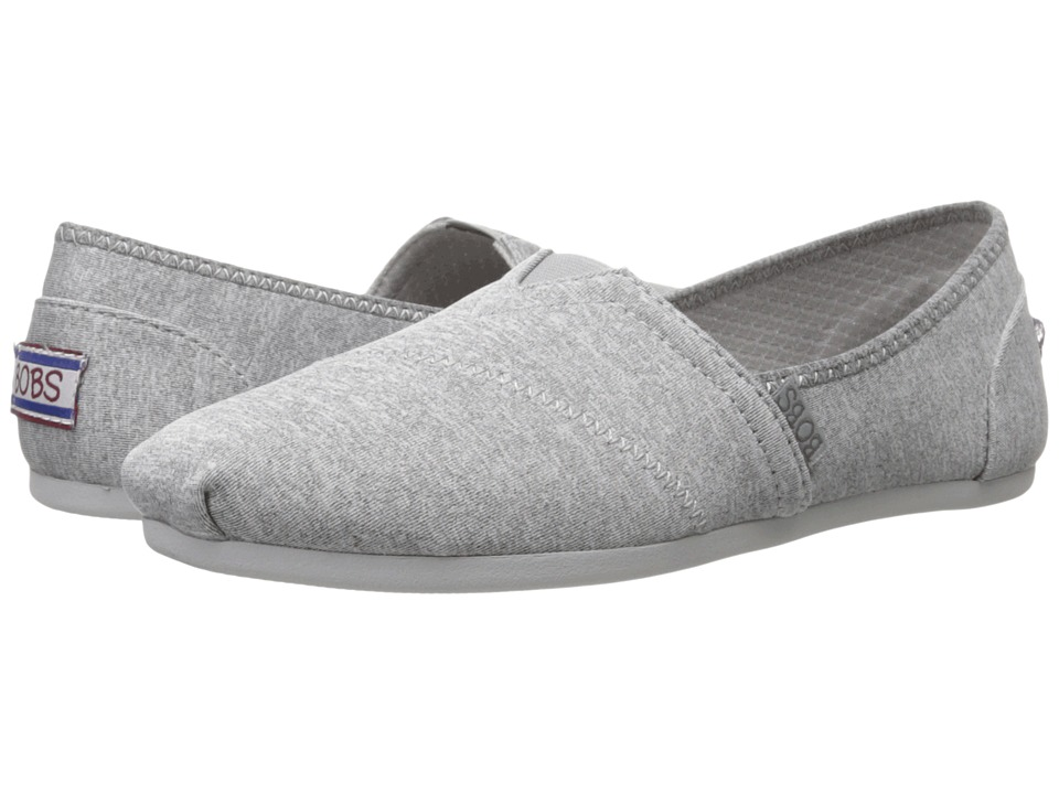 BOBS from SKECHERS Bobs Plush Express Yourself Gray Womens Slip on Shoes