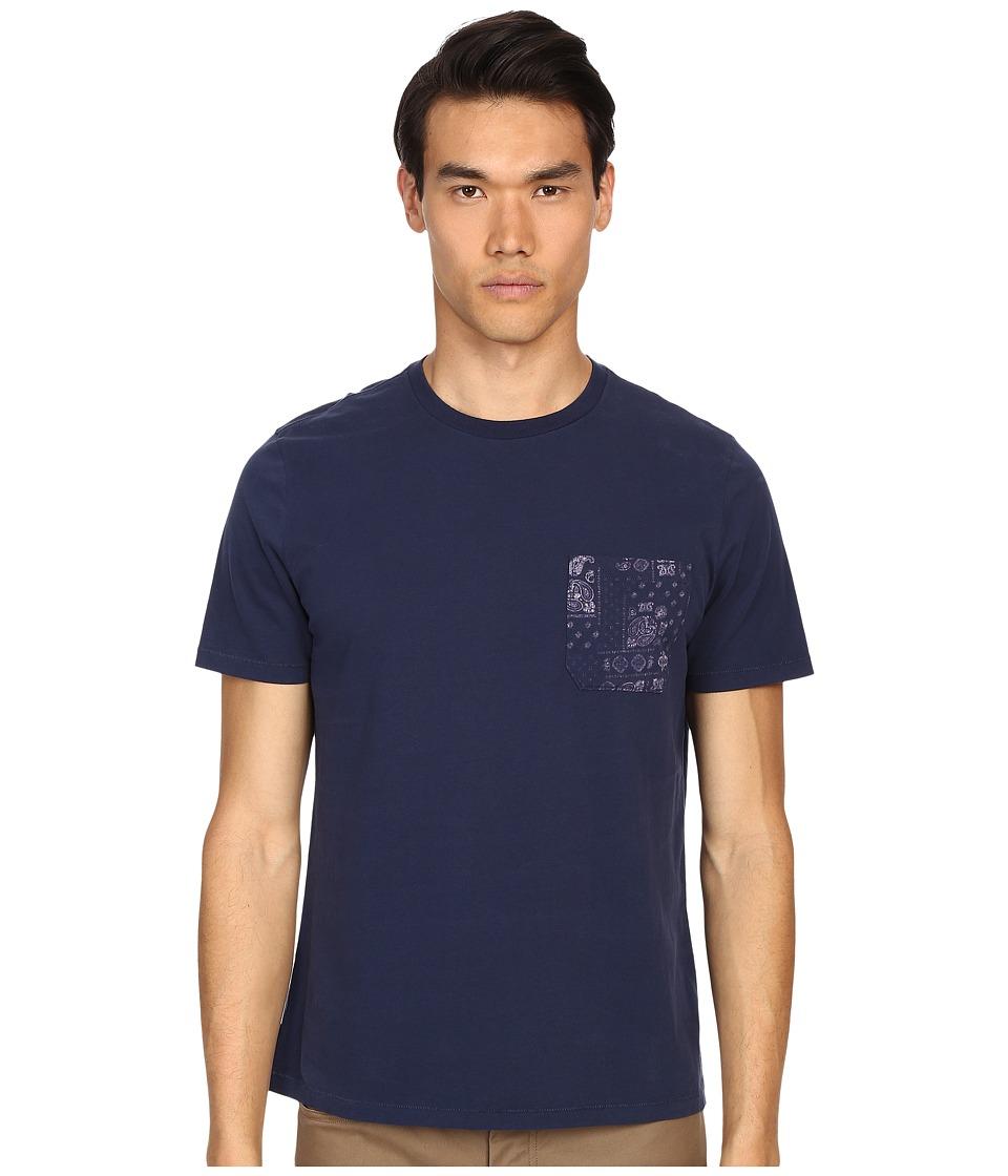 Jack Spade Bandana Tee Navy Mens T Shirt