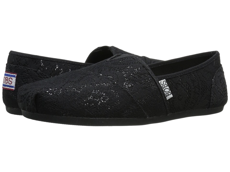 BOBS from SKECHERS Bobs Plush Shimmer Shine (Black/Black) Women