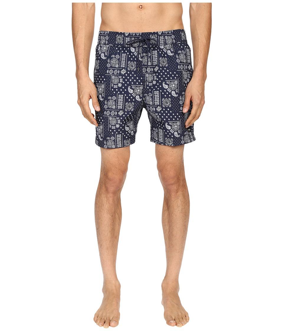 Jack Spade Bandana Grannis Swim Trunks Navy Mens Swimwear
