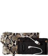 Mighty Purse - Cow Leather Charging Snake Wristlet
