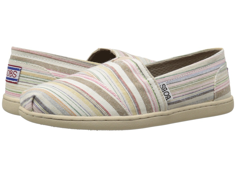 BOBS from SKECHERS Bobs Bliss Open Heart Natural/Multi Womens Slip on Shoes