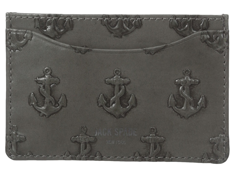 Jack Spade Embossed Anchor Credit Card Holder Grey Credit card Wallet