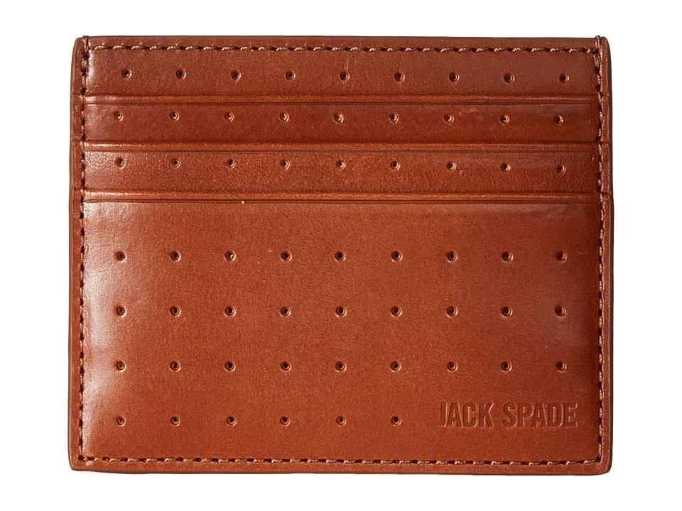 Jack Spade 610 Leather 6 Card Holder Tobacco Credit card Wallet