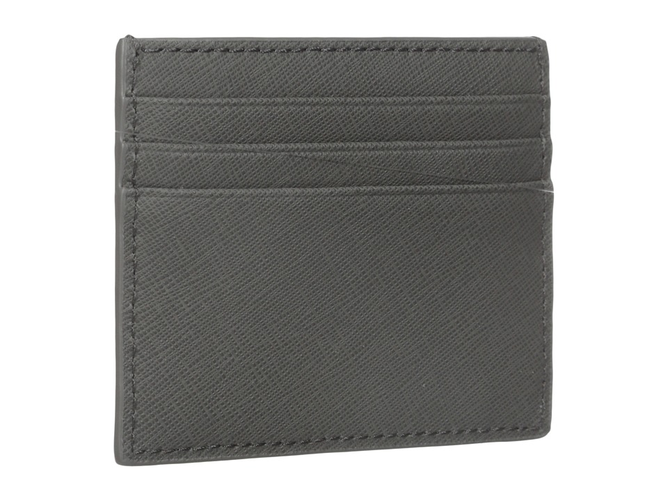 Jack Spade Barrow Leather Six Card Holder Grey Credit card Wallet