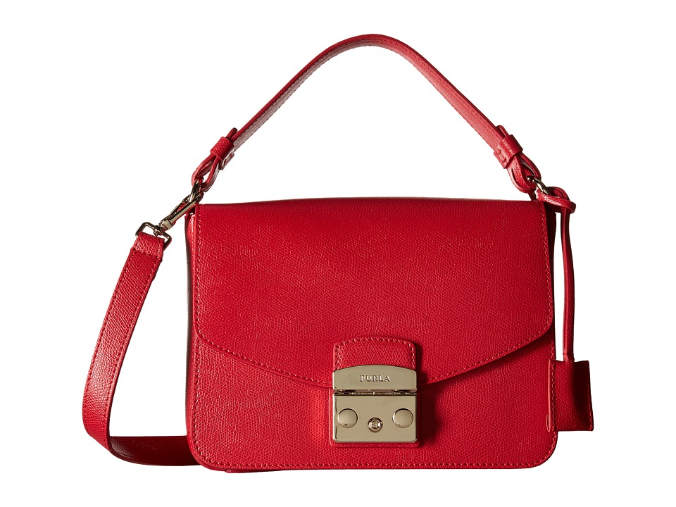 Furla - Metropolis Small Shoulder Bag (Ruby) Shoulder Handbags