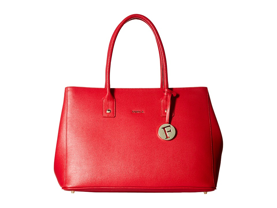 Furla - Linda Medium Tote East/West (Ruby) Tote Handbags