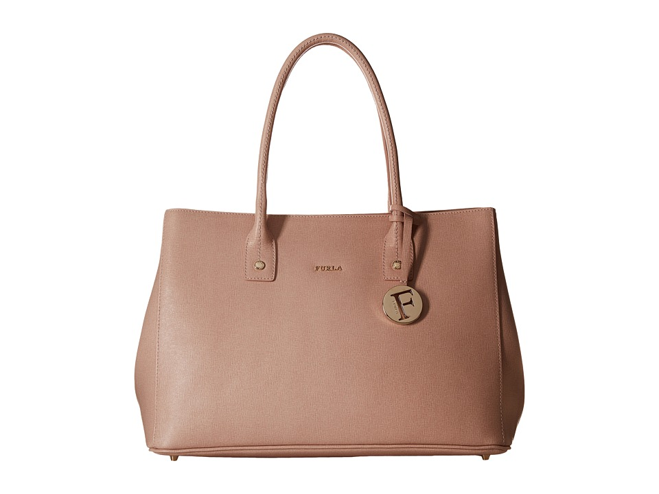 Furla - Linda Medium Tote East/West (Moonstone) Tote Handbags