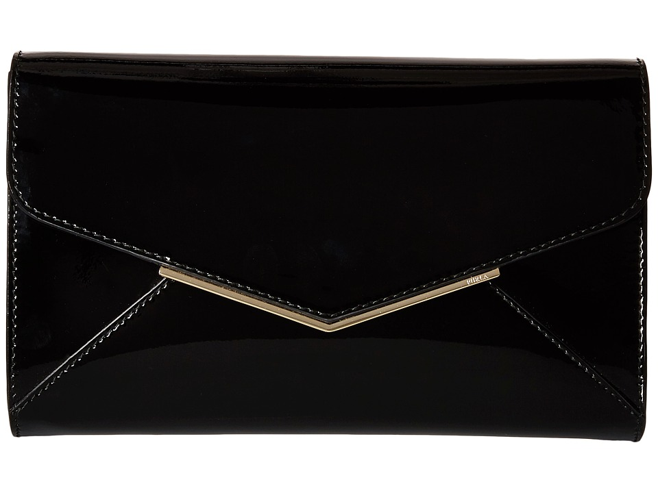 Furla Cherie Small Envelope Pochette Onyx Cross Body Handbags