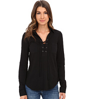 Mod-o-doc - Slub Jersey Lace-Up Shirt