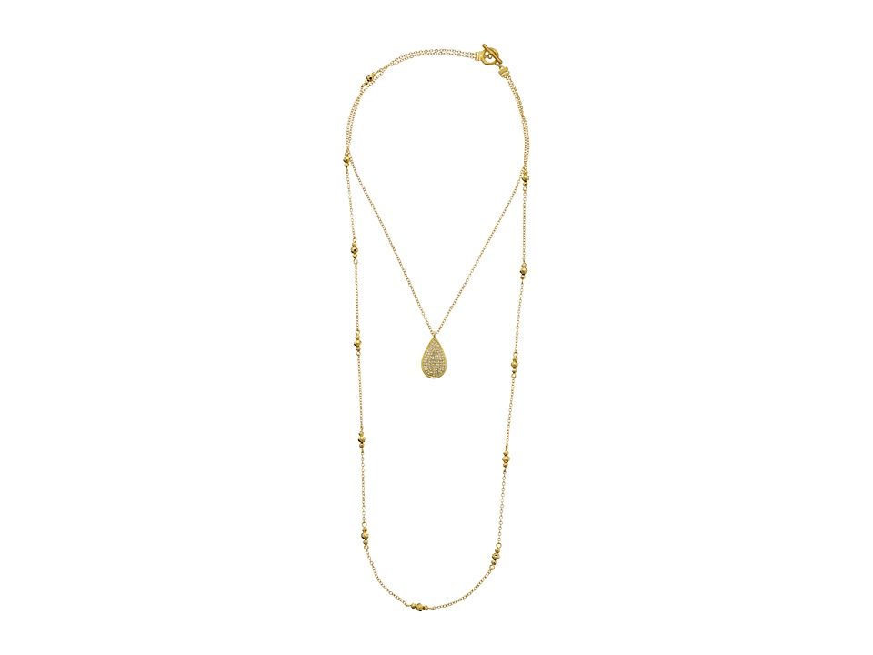 Karen Kane Glitzy Glacier Layered Pendant Necklace Gold Necklace