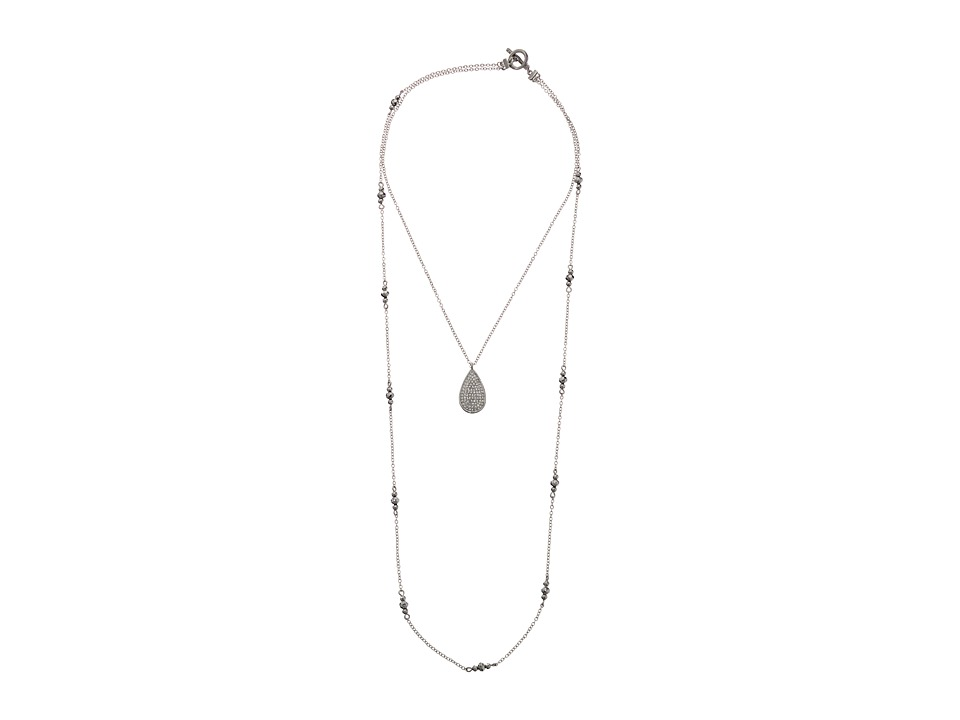 Karen Kane Glitzy Glacier Layered Pendant Necklace Silver Necklace