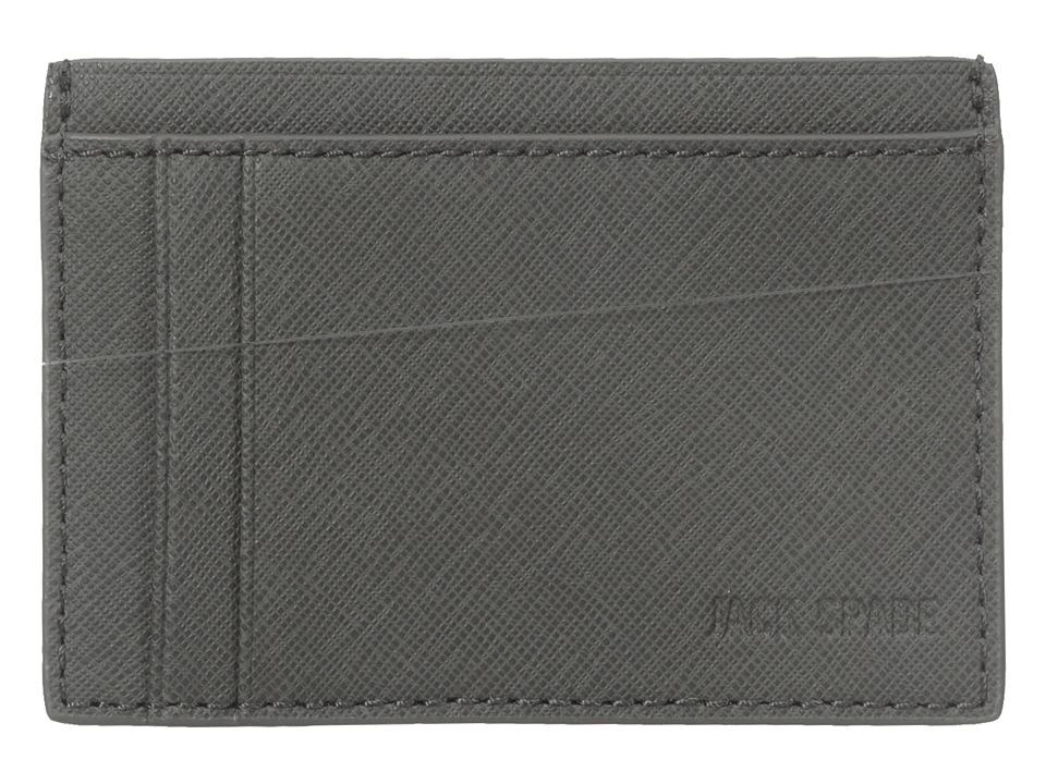 Jack Spade Barrow Leather ID Wallet Grey Wallet