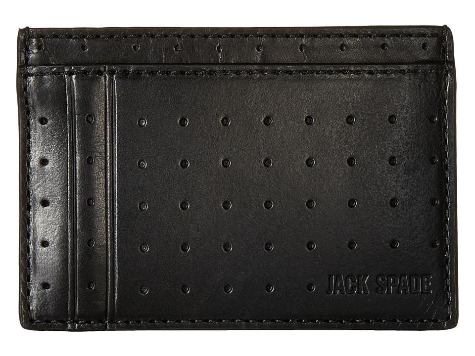 Jack Spade 610 Leather ID Wallet Black Wallet Handbags
