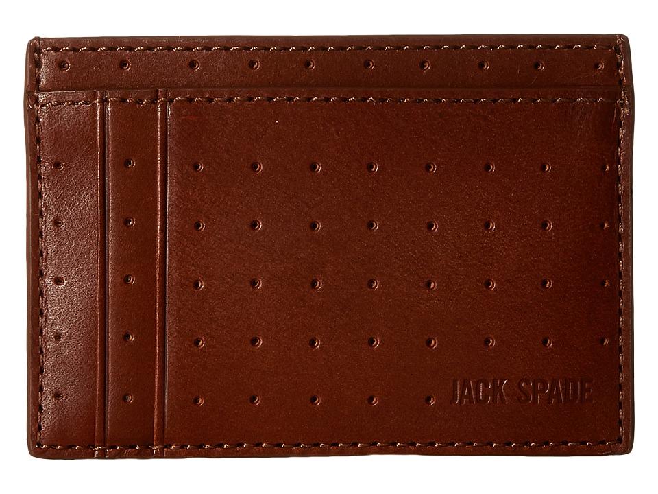 Jack Spade 610 Leather ID Wallet Tobacco Wallet Handbags