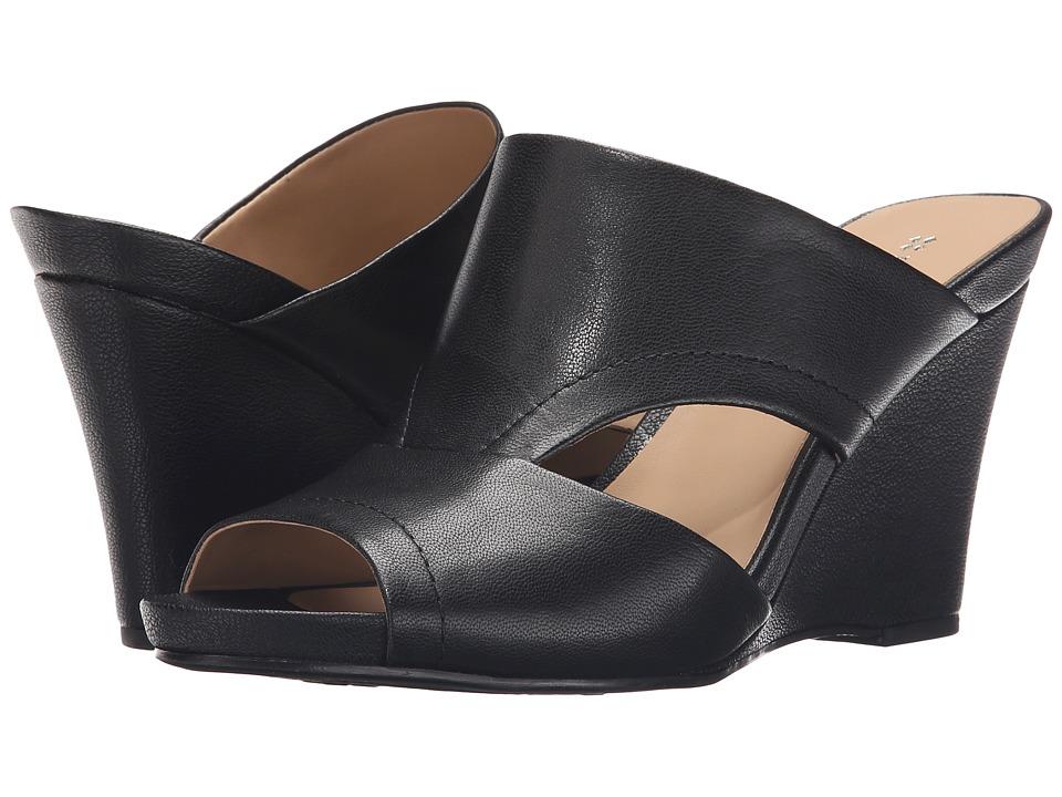 Naturalizer Bankston Black Leather Womens Wedge Shoes