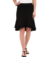 Mod-o-doc - Slub Jersey Double Tiered High-Low Skirt