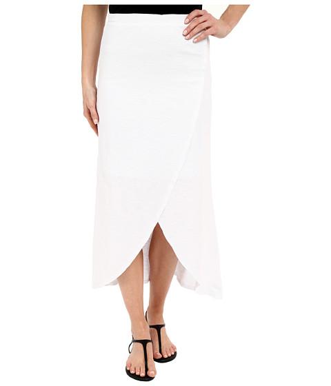 Mod-o-doc Heavier Slub Jersey Faux Wrap Maxi Skirt