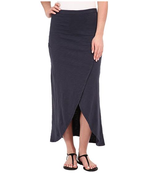 Mod-o-doc - Heavier Slub Jersey Faux Wrap Maxi Skirt (Gibraltar) Women's Skirt