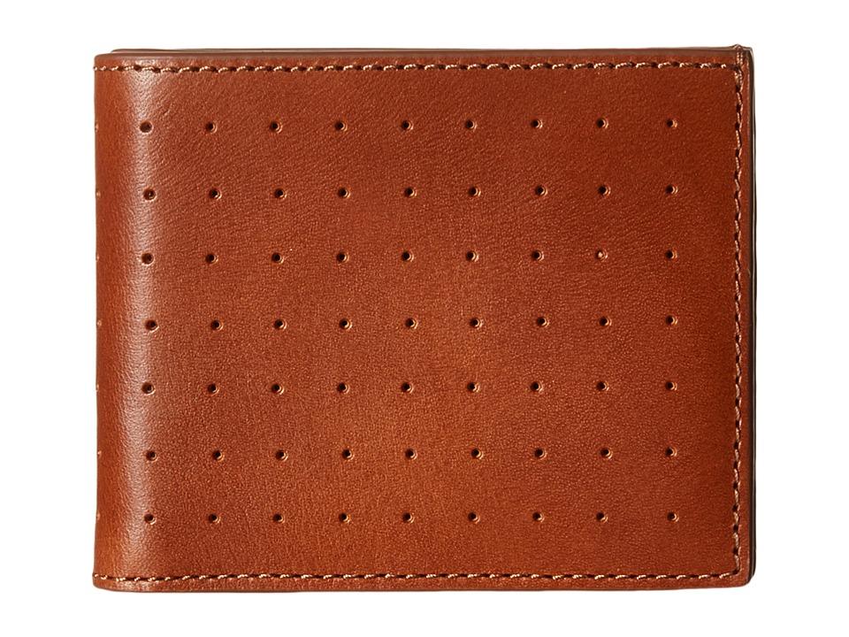 Jack Spade 610 Leather Slim Billfold Tobacco Bill fold Wallet