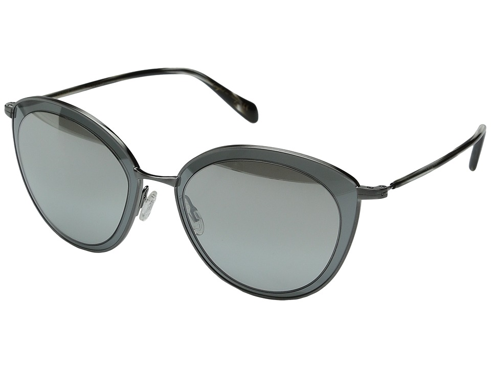 Oliver Peoples Gwynne Pewter/Graphite/Silver Flash Gradient Mirror Fashion Sunglasses