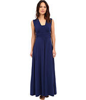 Mod-o-doc - Cotton Modal Spandex Jersey Empire Shirred V-Neck Maxi Dress