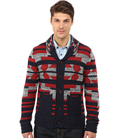 Lucky Brand - Intarsia Shawl Sweater
