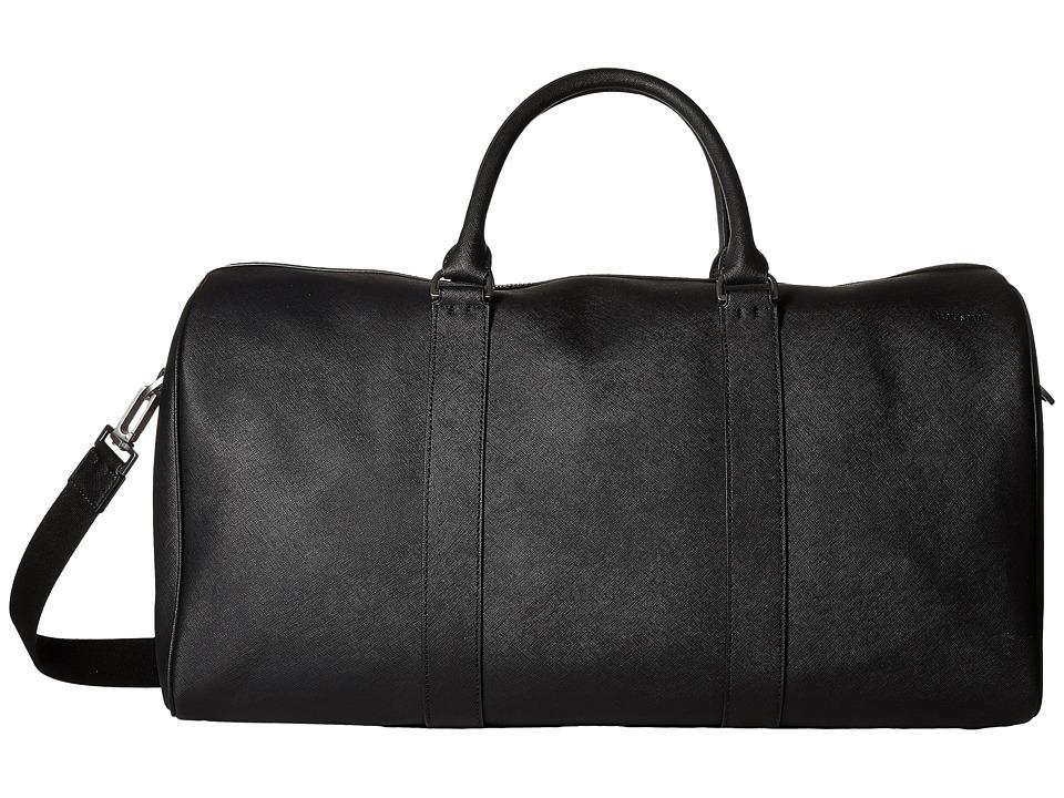 Jack Spade Barrow Leather Duffel Black Duffel Bags