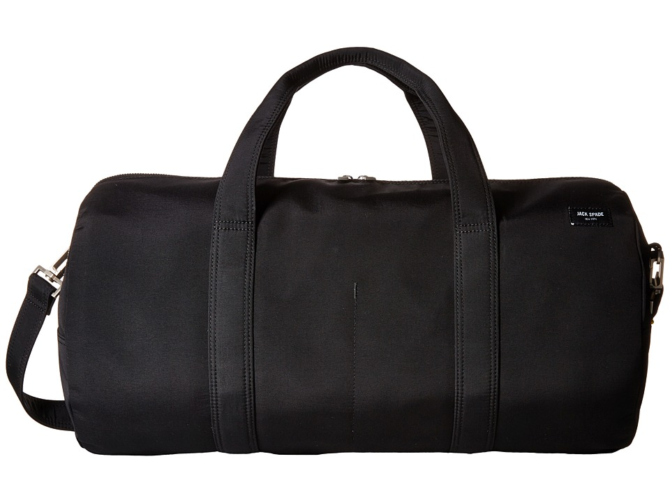 Jack Spade - Tech Travel Nylon Gym Duffel (Black) Duffel Bags