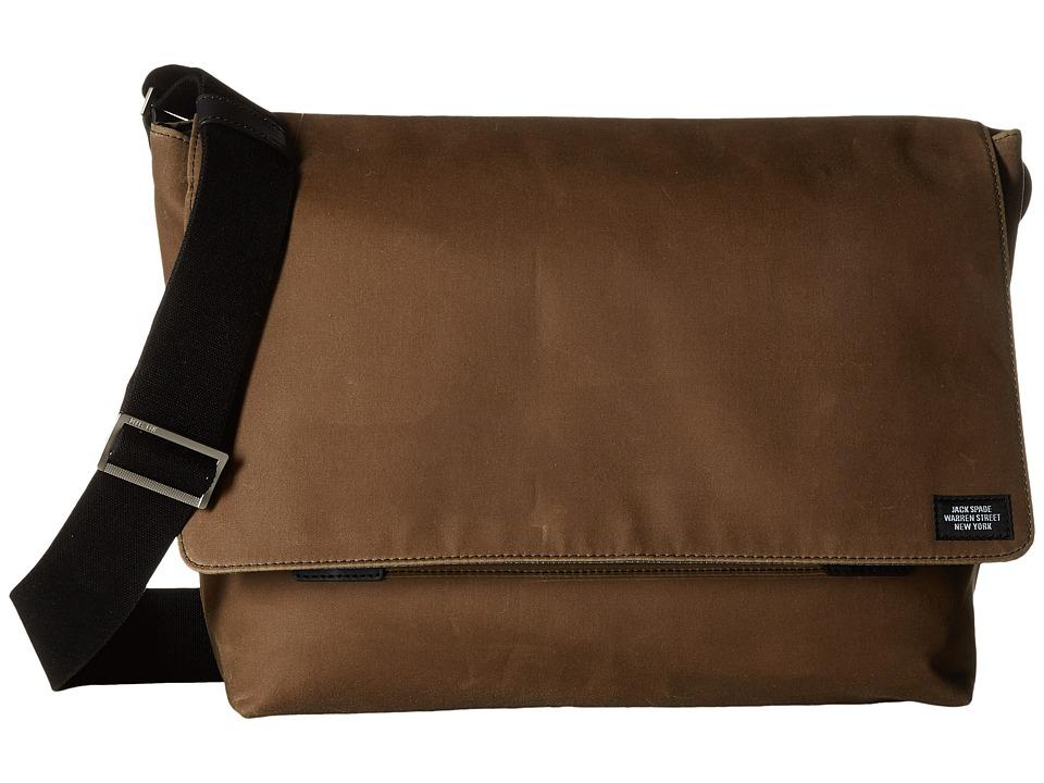 Jack Spade - Waxwear Field Messenger (Khaki) Messenger Bags